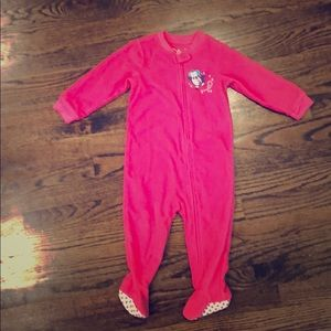Carters Pink Winter Fleece Pajamas